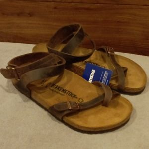 Birkenstock Yara Leather Habana Sandals